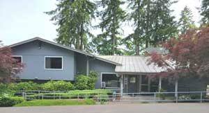 image of the gray two-story Olympia Work Release facility.